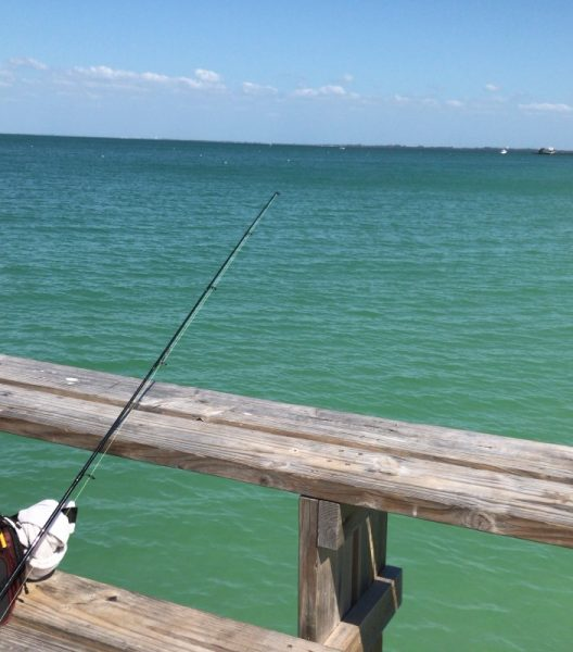 Fishing on the Anna Maria Island Pier on vacation